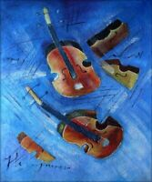 Quality Hand Painted Oil Painting Still Life with Violins 20x24in