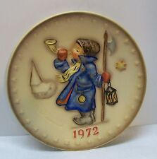 Hummel Plate Girl Blowing Horn Stars Church 2nd Annual Plate 1972 Vintage
