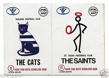 1974 Scanlens - Double Sticker - Geelong / St. Kilda #
