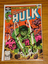 INCREDIBLE HULK #245 VOL1 MARVEL COMICS MARCH 1980