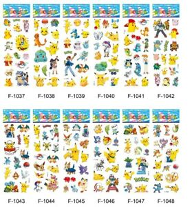 10 x  POKEMON Sticker strips  loot -party bags birthday -gift - girls party