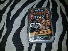 WWE Slam Attax Live Mega Tin Women's Evolution Sealed NEW ring mat inside !