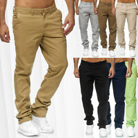 Herren CHINO Hose Jeans Stoff Hose Baumwolle Regular Fit Basic Design Chinohose