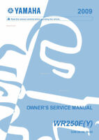 Yamaha WR250 F(Y) 2009 Owners Service Manual NEW PAPERBACK