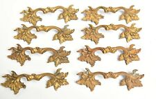 4 VINTAGE MATCHING SETS OF BRASS FRENCH PROVINCIAL STYLE DRAWER PULL HANDLES