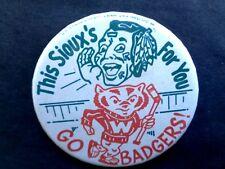 "Rare, Original Wisconsin Badgers North Dakota Sioux Hockey 3"" Pinback Button"
