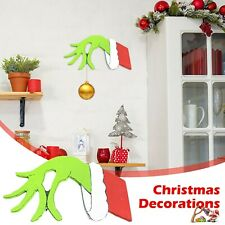 Christmas Decorations Wall Stickers Thief Grinch Hand Thief Hand Home Decal