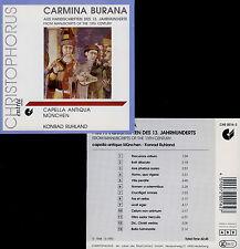 CARMINA BURANA (XIIIe) CAPELLA ANTIQUA - RUHLAND