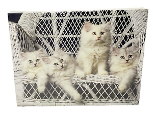 Whiskers On Wicker 1988 Keith Kimberlin Kitten Cats 550 Piece Jigsaw Puzzle NEW