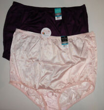 2 Vanity Fair Full Brief Panty 15712 Set Nylon Ravissant 9 2XL Pink Purple NWT
