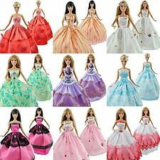 5PCS Lot Fashion Wedding Party Dresses Clothes Grows Outfit For Barbie Doll US