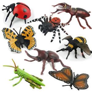 Plastic Simulation Spiders Bee Butterfly Model Toy Joke Scream Halloween Props