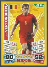 TOPPS MATCH ATTAX  BRAZIL 2014 WORLD CUP- #019-BELGIUM/TOTTENHAM-JAN VERTONGHEN