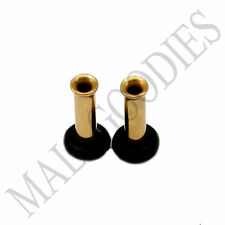 0848 Gold Single Flare Flesh Tunnels Earlets Big Gauges 10G Plugs 2.5mm 1 PAIR