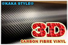 3D fibre de carbone, 0,6 m (23,6 dans) x1.52 m (59,8 dans) feuille vinyle texturé autocollant Wrap