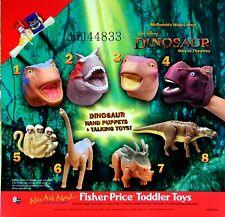 2000 McDonalds Dinosaur MIP Complete Set - Lot of 8, Boys & Girls, 3+