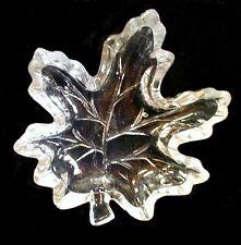 Glass Candy Dish Maple Leaf Clear Heavy 5-1/4 x 6 x 1-1/4 inch