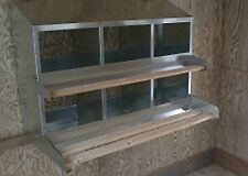 "(12x6Pk)  6-Hole 12""X12"" Metal Chicken Nesting Box NEW"