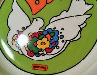POP ART vtg peter max hippie peace dove bird ashtray coin keys wallet bowl plate