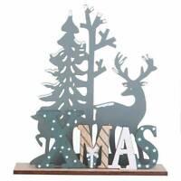 Wooden Reindeer Ornament Christmas Tree Elk Xmas Party Home Table Wood DIY Decor