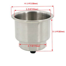 2PCS Stainless Steel Cup Drinking Holder Marine Boat Car Truck Camper RV Sofa