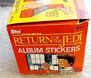 EMPTY BOX : 1983 STAR WARS ROTJ STICKER PACKS TOPPS PANINIITALY VINTAGE RARE!!