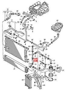 Genuine AUDI A6 Allroad qu. quattro Avant S6 A6L Coolant Hose Left 4G0121109T