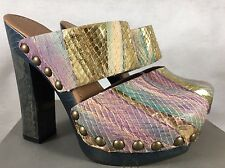 UGG Collection Amadora Disco Leather Studded Accents Clogs Size 5.5 Slip On 3480