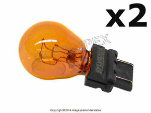 BMW E39 E53 E60 E65 E66 FRONT Bulb Turn Signal Light (Yellow) 12V - 21/7W OEM