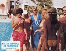 SEXY SILVIA AGUILAR BELLES BLONDES ET BRONZEES 1981 VINTAGE LOBBY CARD ORIGINAL