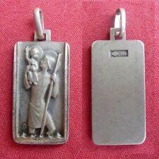 ancienne médaille pieuse religieuse argent Saint Christophe 3,5gr silver medal