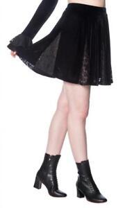 Falda mini terciopelo negro y encaje Poison skirt Banned SK2267