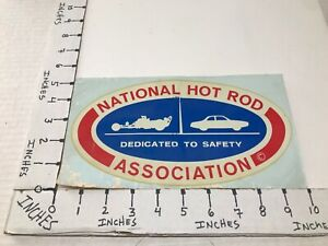 """LARGE VINTAGE 1960'S NHRA DEDICATED TO SAFETY WATER TRANSFER DECAL 5"""" X 10"""""""