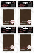 4pk 200 ULTRA PRO Deck Protector Card Sleeves Magic Pokemon Standard 84027 Brown