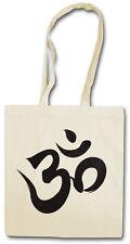 OM SIGN LOGO Hipster Shopping Cotton Bag - Ganesha Shiva Buddha Govinda Buddhism