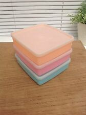 3 Vintage Tupperware Pastel Boxes Containers