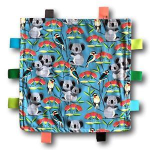 KOOKABURRA and KOALA Theme Tactile Baby Security Blanket