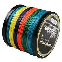 8 Strands 100M~2000M Multi-color Power Dyneema Braid Fishing Line 6lb~300lb