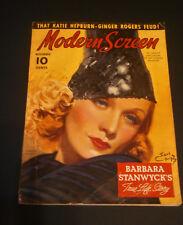 Modern Screen Movie Magazine Marlene Dietrich Cover Barbara Stanwyck Clark Gable