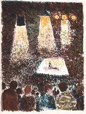 GUY BARDONE - LES OLYMPIQUES * RARE ORIGINAL LITHOGRAPH 1963 boxing