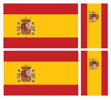 4 x bandera España Spain Pegatina de vinilo coche furgoneta Ipad Laptop