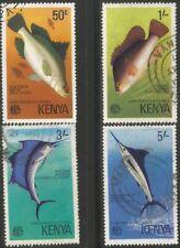 KENYA 1977 GAME FISH Sc#68-9 COMPLETE VFU SET 2210