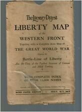 The Literary Digest LIBERTY MAP of the Western Front, 1918, Great World War