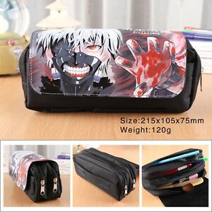 Tokyo Ghoul Pen Pencil Case Zipper Stationery Make Up Bag box cosplay