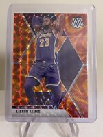 2019-20 PANINI MOSAIC LEBRON JAMES ORANGE REACTIVE PRIZM REFRACTOR LAKERS