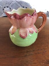 Rare Vintage Shorter and Son Water Lily Pad Flower Jug 1940's Hand Painted