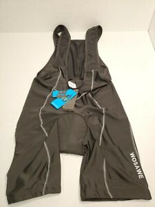 Wosawe Cycling Bib Pants Vest Shorts Black Mens XL BC105-0XL NWT