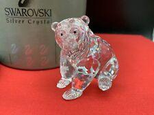 Swarovski Figurine 243880 Grizzly Bear Sitting 3 1/2in Boxed & Zertifikat. Top