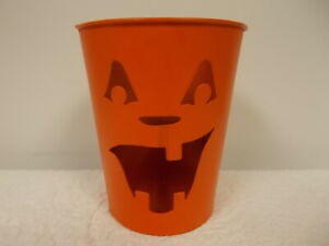 1999 Bath & Body Works Halloween Jack O Lantern Metal Candle Holder Luminary