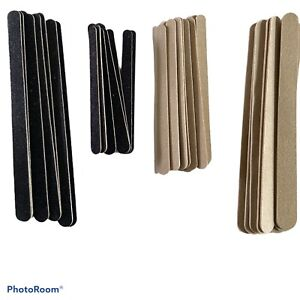 8x Nail Files Double Sided 100/180 Grit Emery Board Straight Professional UK